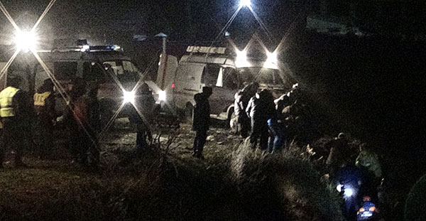 Из-за резкого ухудшения погоды в Северной Осетии с мостов упали два автомобиля (фото)