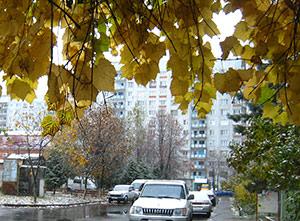 Во Владикавказе выпал первый снег
