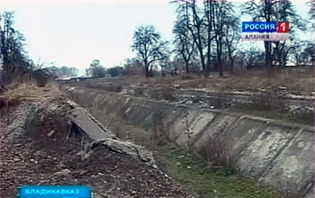 Во Владикавказе оказался под угрозой затопления микрорайон «Весна»