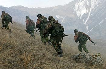 На горном полигоне «Дарьял» проводятся состязания разведывательных подразделений ЮВО