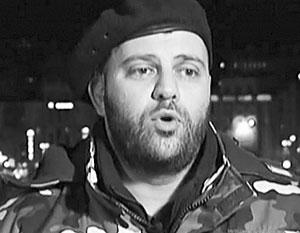 Командир «Грузинского легиона» на Украине впервые появился на ТВ