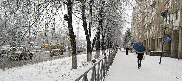 Владикавказ обрел немного снега