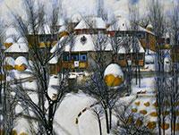 Магрез КЕЛЕХСАЕВ одарил зимнюю Москву поэзией своей живописи