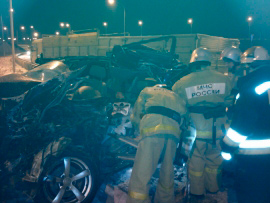 Мартовский снегопад привел к ДТП на Транскаме с участием трех автомобилей