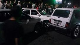 Нетрезвый житель селения Коста протаранил во Владикавказе четыре автомобиля