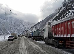 Сезон лавин в горах Осетии