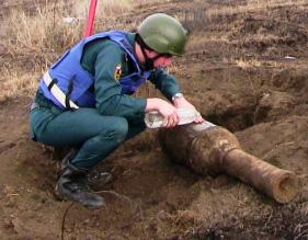 В Моздокском районе обезврежен неразорвавшийся снаряд, который гитлеровцы называли «Ванюша»